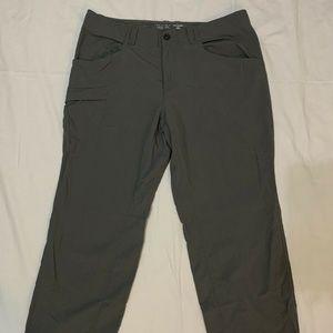 Mountain Hardwear Mens Nylon Pants Gray 36x34